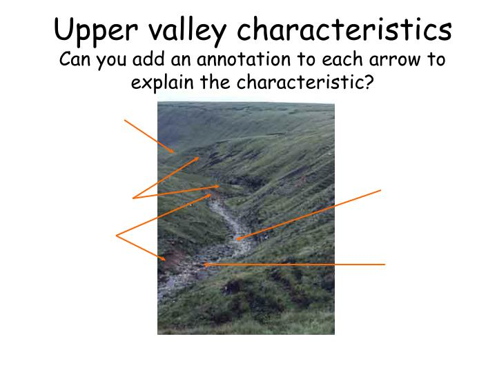 Upper valley characteristics