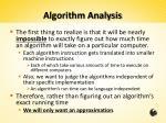 algorithm analysis1