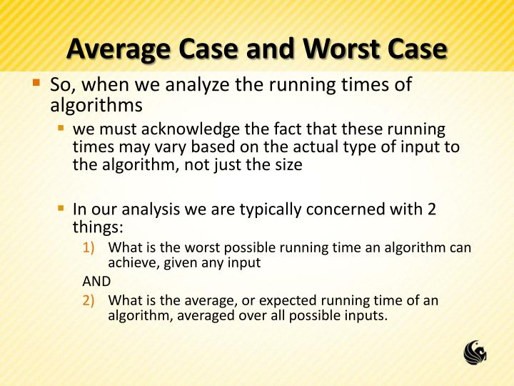 Average Case and Worst Case