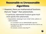 reasonable vs unreasonable algorithms1