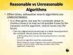 reasonable vs unreasonable algorithms2