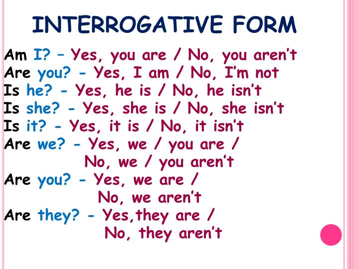 INTERROGATIVE FORM