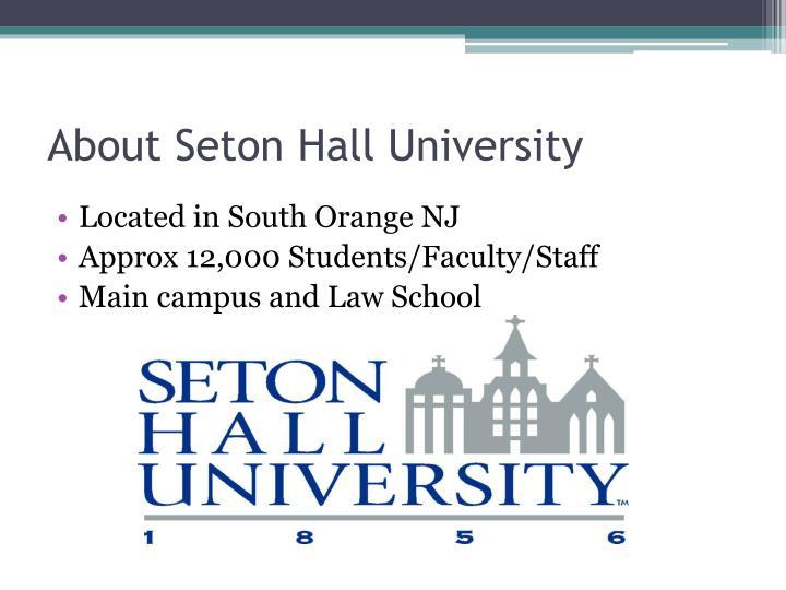 About Seton Hall University