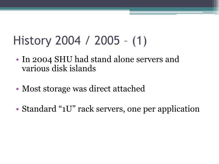 History 2004 / 2005 – (1)