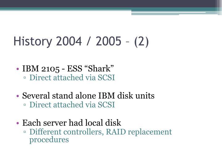 History 2004 / 2005 – (2)