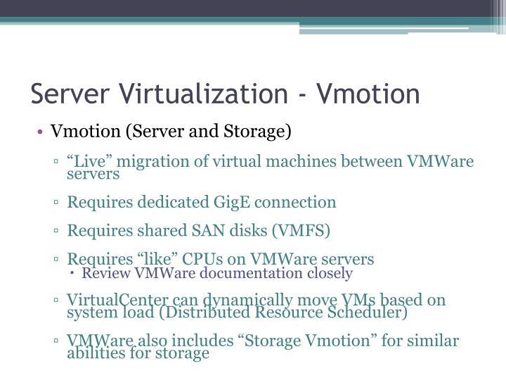 Server Virtualization -