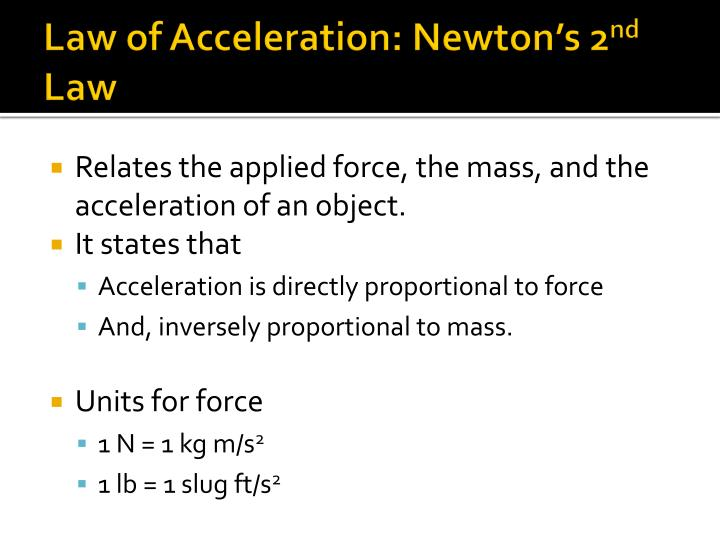 Law of Acceleration: Newton's 2