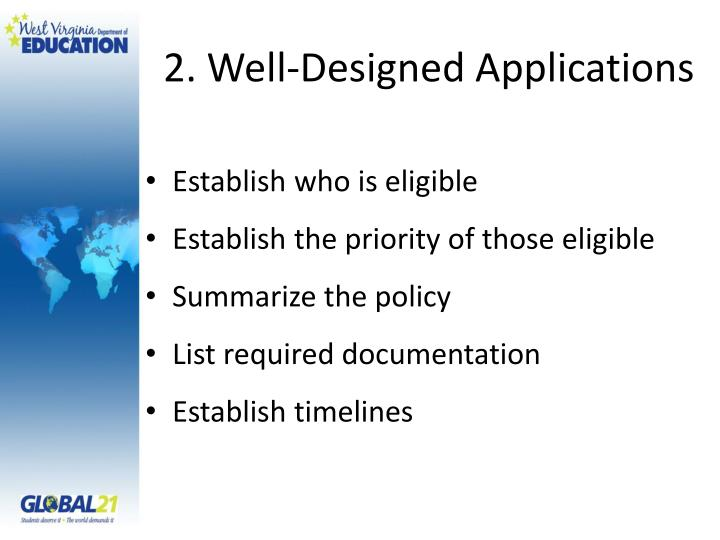 2. Well-Designed Applications