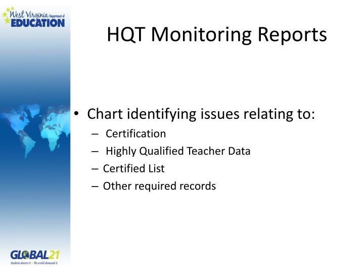 HQT Monitoring Reports