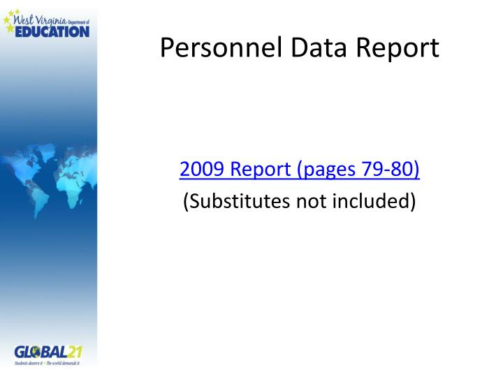 Personnel Data Report