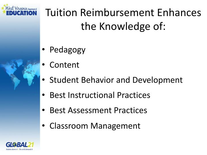 Tuition Reimbursement Enhances the Knowledge of: