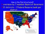 how is the fed structured