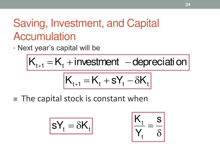 Saving, Investment, and Capital Accumulation