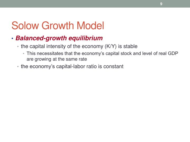 Solow Growth Model