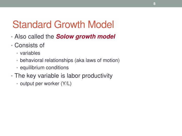 Standard Growth Model