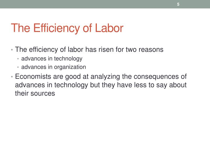 The Efficiency of Labor