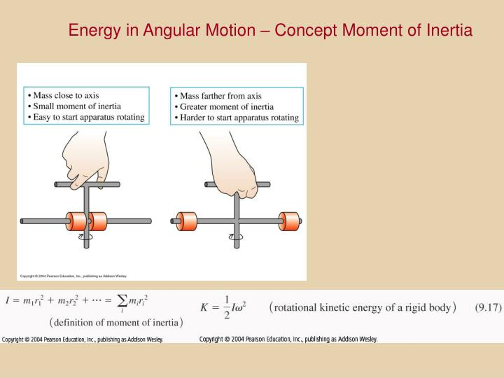 Energy in Angular Motion – Concept Moment of Inertia