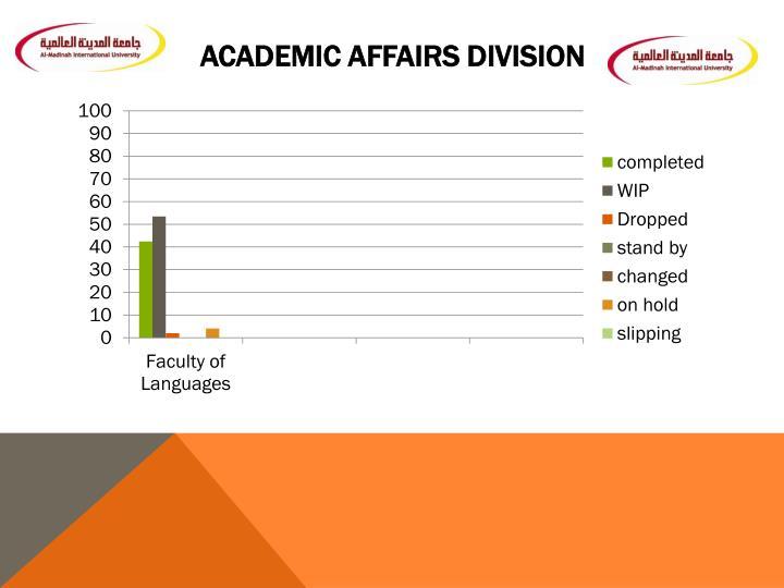 Academic Affairs Division