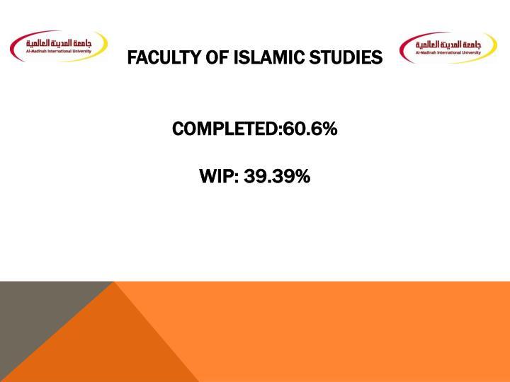 Faculty of Islamic Studies