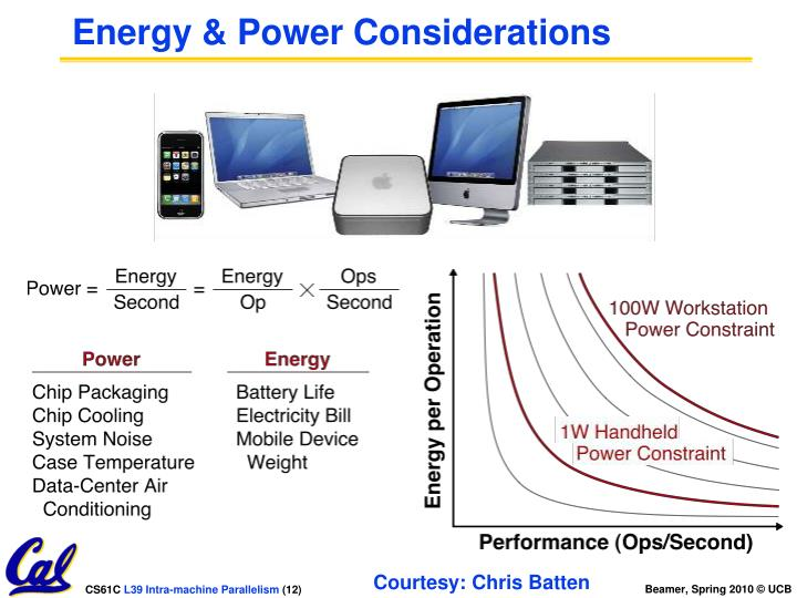 Energy & Power Considerations