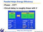 parallel helps energy efficiency