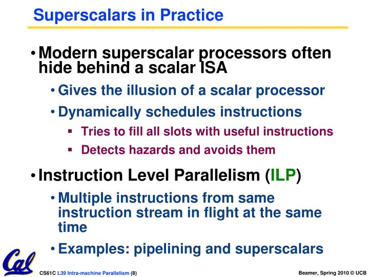 Superscalars