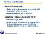 vectors continued