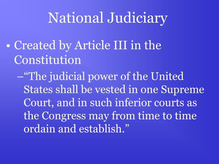National Judiciary