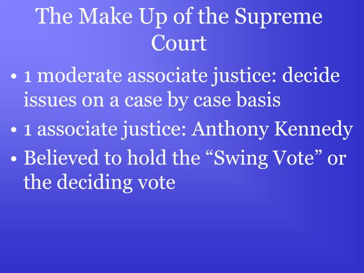 The Make Up of the Supreme Court
