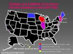 12 states and 6 districts have sexual minority questions on the 2009 yrbs