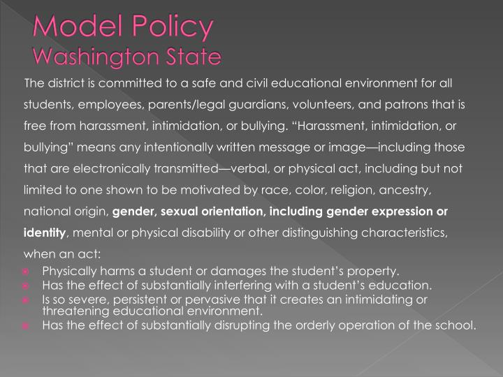 Model Policy