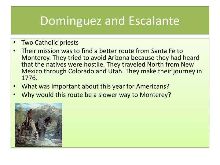 Dominguez and Escalante