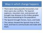 ways in which change happens