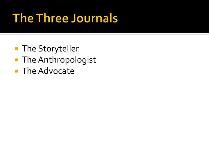 The Three Journals