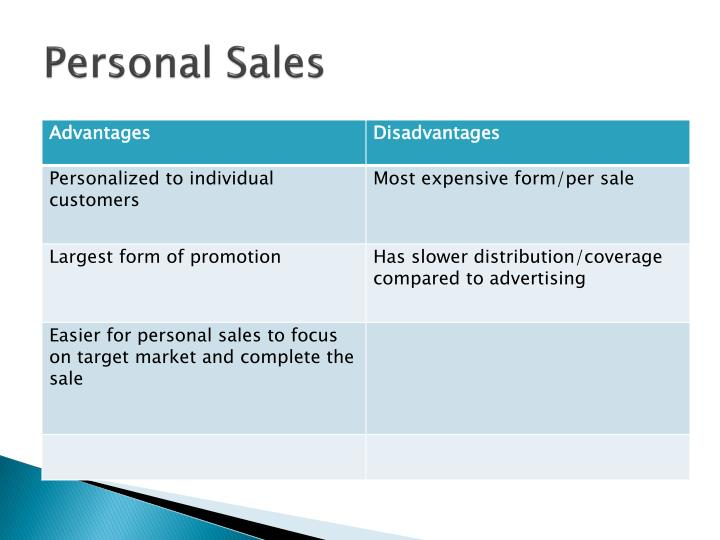 Personal Sales