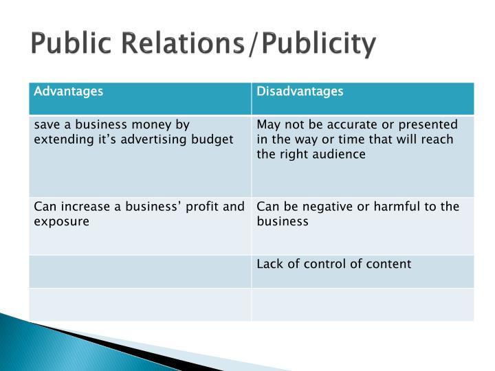 Public Relations/Publicity