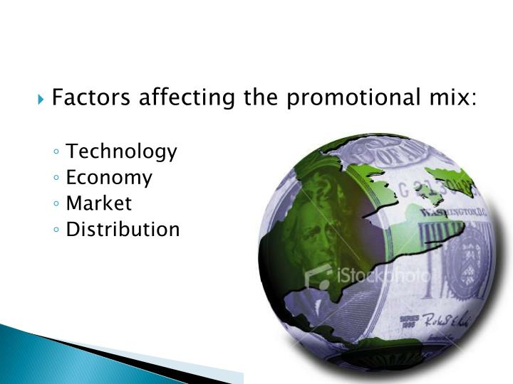 Factors affecting the promotional mix: