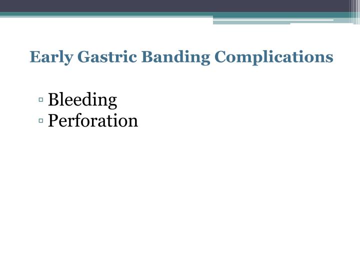 Early Gastric Banding Complications