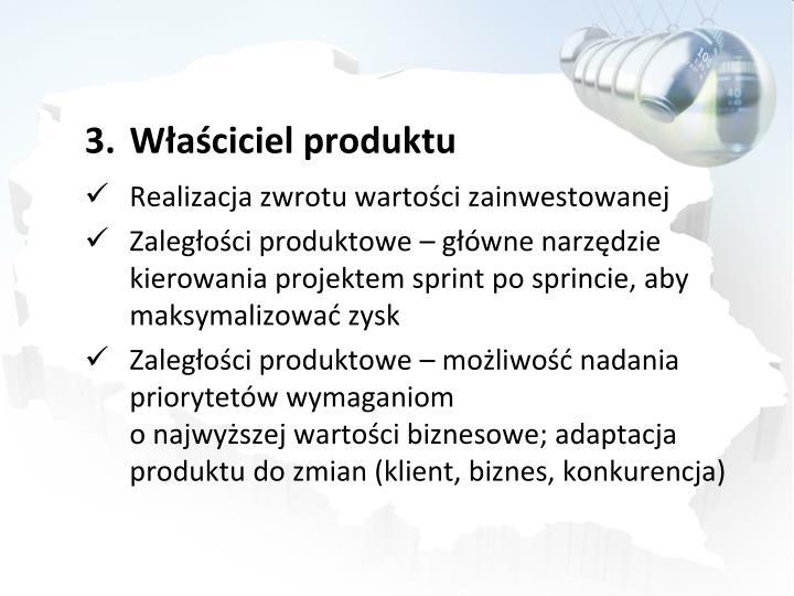 Waciciel produktu