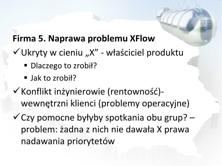 Firma 5. Naprawa problemu