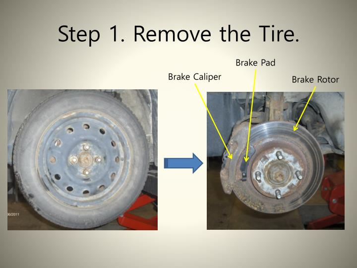 Step 1. Remove the Tire.