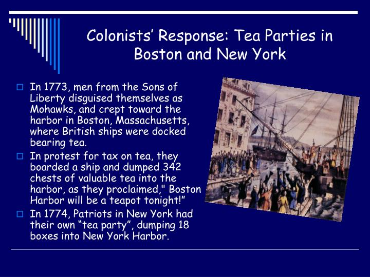 An analysis of the causes of the american revolution and the response of the colonists