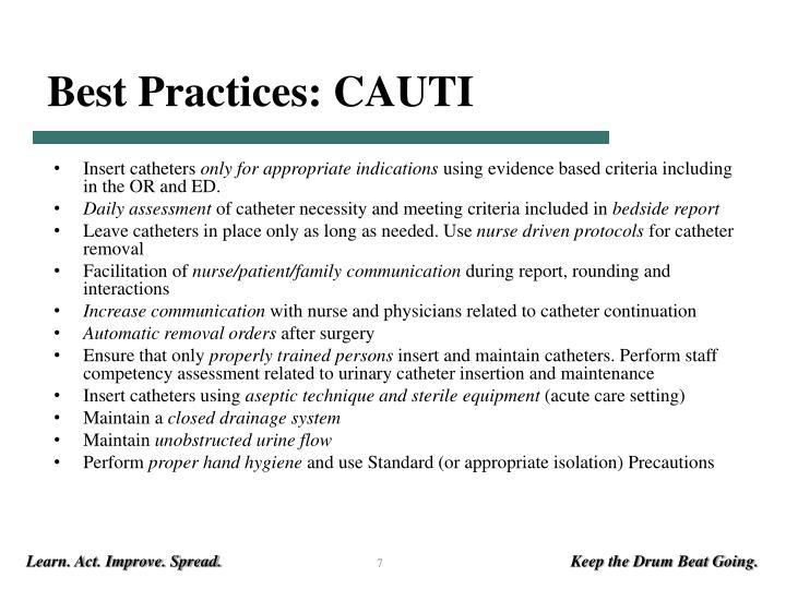 Best Practices: CAUTI