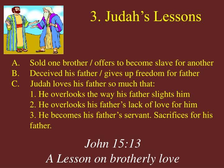 3. Judah's Lessons
