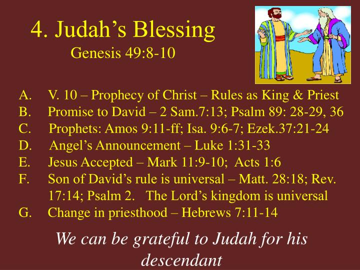 4. Judah's Blessing