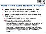 open action items from aatt activity1