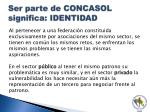 ser parte de concasol significa identidad
