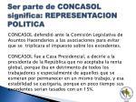 ser parte de concasol significa representacion politica2