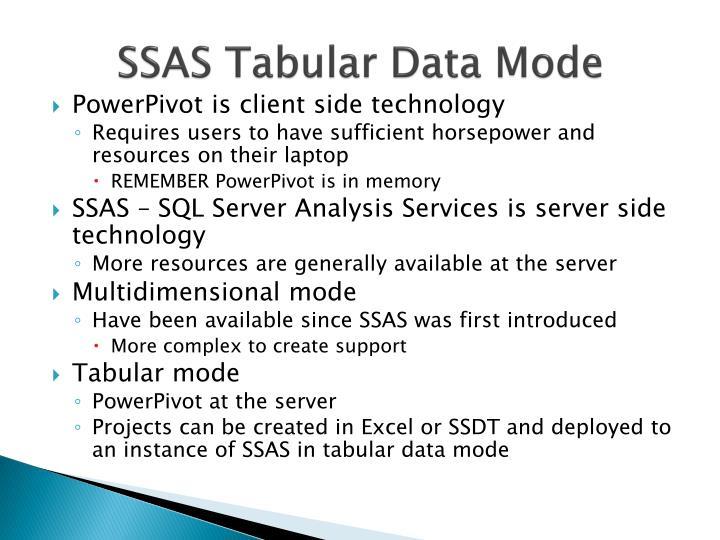 SSAS Tabular Data Mode