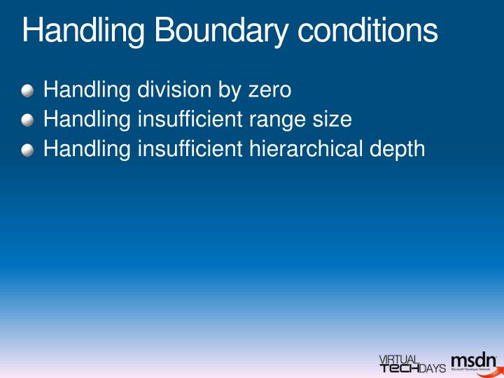 Handling Boundary conditions